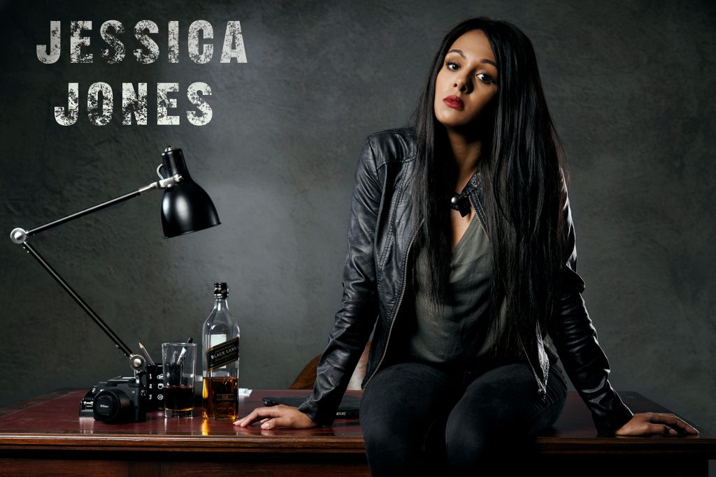 Jessica Jones on the Desk
