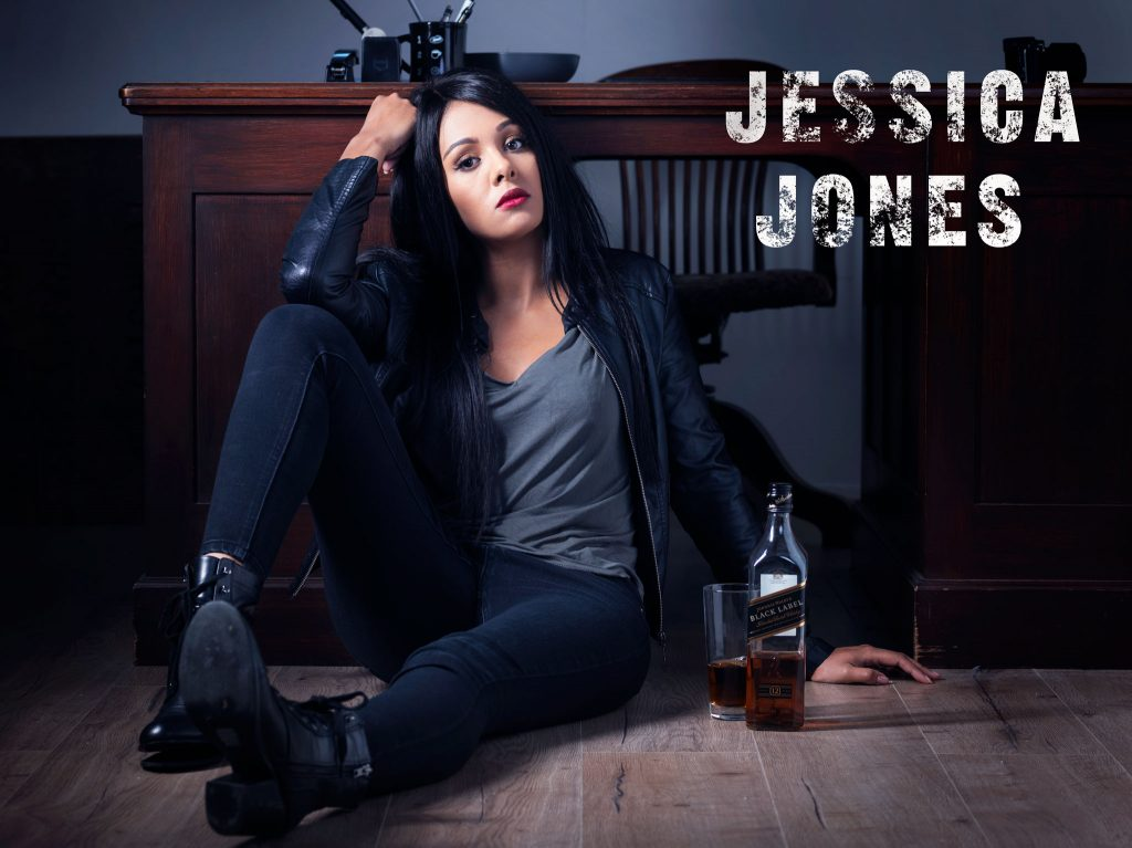 Jessica Jones on the floor
